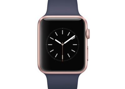 Rose Gold / Midnight Blue Sport Band